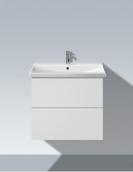L Cube 620mm 2 Drawers Vanity Unit With P3 Comfort Basin