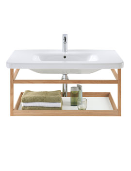 Duravit DuraStyle 590mm ACC Shelf With 650mm Basin - DS987101876