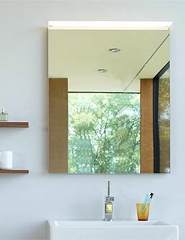 Burlington 600mm Matt White Framed Mirror With Led