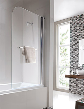 Geo6 Single Panel Right Handed Bath Screen 1500 x 850mm