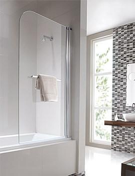Geo6 Single Panel Right Handed Bath Screen 1500 x 850mm