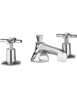 Crosswater Waldorf Crosshead 3 Hole Deck Mounted Basin Mixer Tap Set