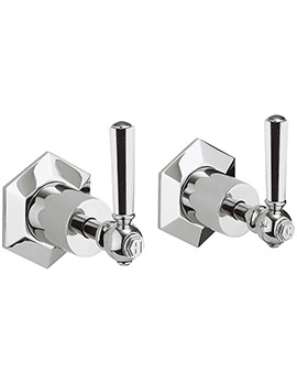 Crosswater Waldorf Chrome Lever Pair Of Wall Mounted Stop Taps