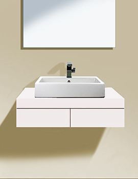 Fogo 800mm Central Cut-Out Console With 2 Drawer