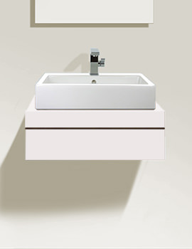 Fogo 600mm Central Cut-Out Console With 1 Drawer