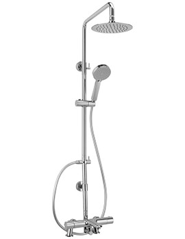 Sagittarius Logic Bath Shower Mixer And Rigid Riser Kit