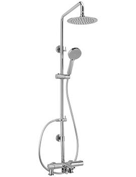 Logic Deck Mounted Bath Shower Mixer And Rigid Riser Kit