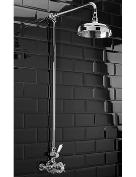 Edwardian Exposed Thermostatic Shower Valve With Rigid Riser