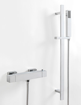 Stark Cube Exposed Thermostatic Shower Valve And Slide Rail Kit