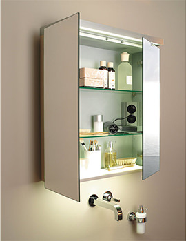 Fogo 1000mm 2 Door Mirror Cabinet