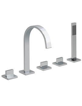 Geo 5 Hole Deck Mounted Bath Shower Mixer Tap - GEO-135-3-4