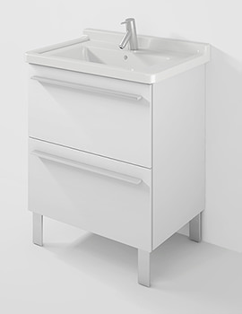 X-Large 650mm Wall Mounted Unit With 700mm Starck 3 Basin
