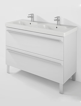 X-Large 1150mm Unit 2 Pullout Compartment And D-Code Double Basin