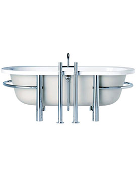 Sottini Lagaro Idealcast Freestanding Bath With Cradle 1700 x 800mm