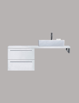 Duravit X-Large 600 x 548mm 2 Drawer Cabinet For Console