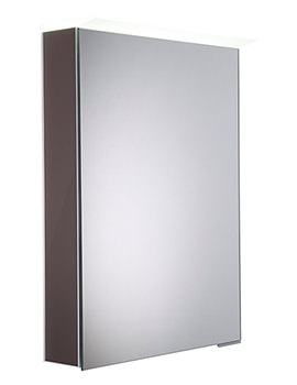 Virtue Gloss Dark Clay LED Mirror Cabinet - VR50ALGDC