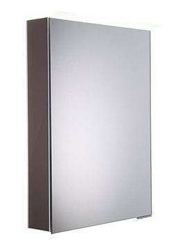 Roper Rhodes Virtue Gloss Dark Clay LED Mirror Cabinet - VR50ALGDC