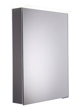 Virtue Smoked Walnut LED Mirror Cabinet - VR50ALSW