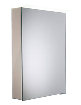 Virtue Gloss Warm Grey LED Mirror Cabinet - VR50ALGWG