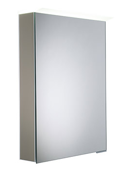 Virtue Matt Light Clay LED Mirror Cabinet - VR50ALMLC