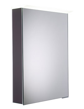 Virtue Matt Carbon LED Mirror Cabinet - VR50ALMCB