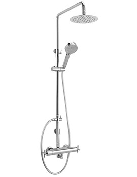 Avant Exposed Thermostatic Shower Valve With Rigid Riser Kit