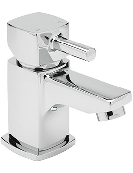 Axis Cloakroom Basin Mixer Tap With Sprung Waste