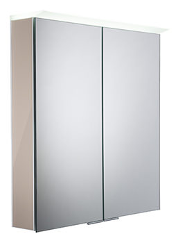 Visage Gloss Warm Grey LED Mirror Cabinet - VS65ALGWG