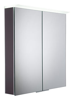Visage Matt Carbon LED Mirror Cabinet - VS65ALMCB