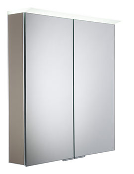 Roper Rhodes Visage Matt Light Clay LED Mirror Cabinet - VS65ALMLC