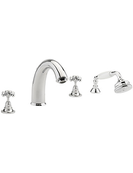 Butler 4 Hole Deck Mounted Bath Shower Mixer Tap