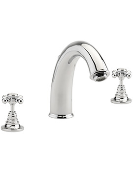 Butler 3 Hole Deck Mounted Bath Filler Tap