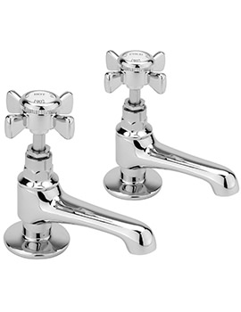 Churchmans Pair Of Basin Taps Chrome