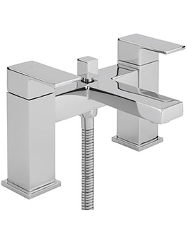 Blade Deck Mounted Bath Shower Mixer Tap With No.1 Kit