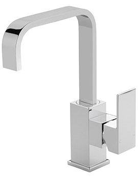 Blade Side Lever Basin Mixer Tap With Sprung Waste