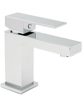Blade Cloakroom Monobloc Basin Mixer Tap With Sprung Waste