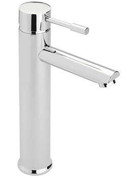 Boston Extended Monobloc Basin Mixer Tap With Sprung Waste