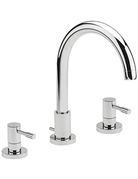 Boston 3 Hole Deck Mounted Bath Filler Tap