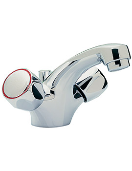 Contract Monobloc Basin Mixer Tap With Pop-Up Rod Waste