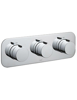 Tablet Altitude Horizontal 3 Handle Concealed Thermostatic Valve