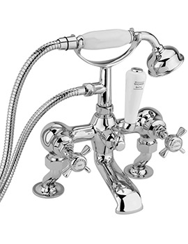 Churchmans Deluxe Deck Bath Shower Mixer Tap With Kit Chrome