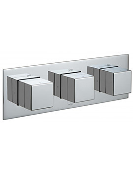 Tablet Notion Horizontal 3 Handle Concealed Thermostatic Valve