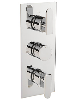 Eclipse Concealed Thermostatic Shower Valve With 3 Way Diverter