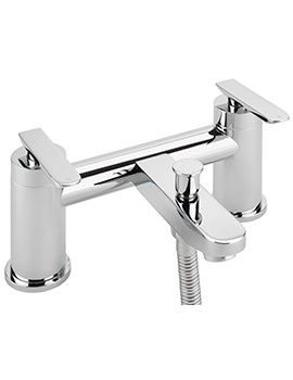 Eclipse Deck Mounted Bath Shower Mixer Tap And No.1 Kit