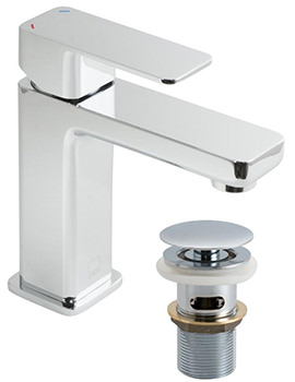 Phase Mono Basin Mixer Tap With Clic-Clac Waste