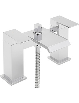 Dakota Deck Mounted Bath Shower Mixer Tap With No.1 Kit