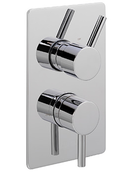 Ergo Concealed Thermostatic Shower Valve With 2 Way Diverter