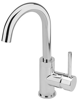 Ergo Side Lever Monobloc Basin Mixer Tap With Sprung Waste