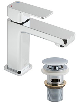 Phase Mini Mono Basin Mixer Tap With Clic-Clac Waste