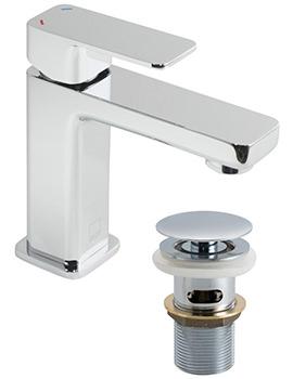 Phase Mini Mono Basin Mixer Tap With Clic-Clac Waste